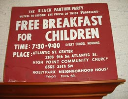 Black Panther Party Free Breakfast Program